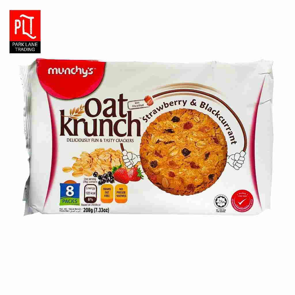 Oat Krunch 208G Strawberry Blackcurrant (1Carton X 12Packet) – Snack Foods Wholesale Supply