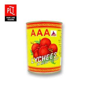 AAA Lychees Tin 565g (12 Tin)