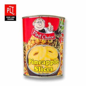 First Choice Pineapple Slice 565g (12Tin)